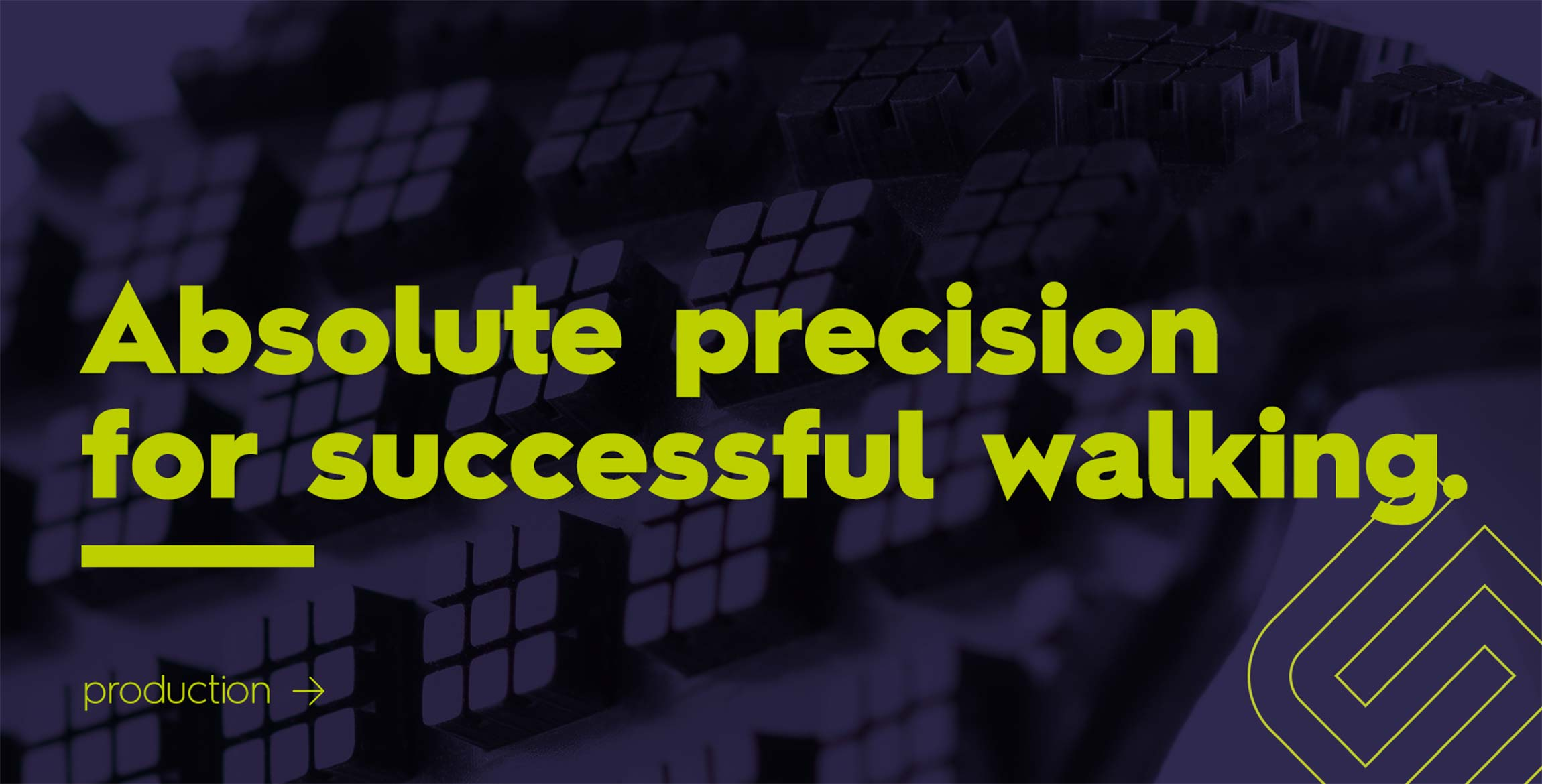 Absolute precision for successful walking